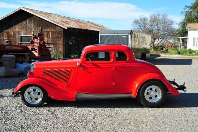Custom Steel RestoMod 193334 Ford 5 Window Chevy 327350