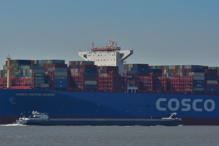 Aankomst Cosco Shipping Universe 23-07-'18-41