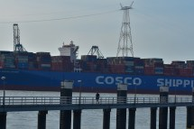 Aankomst Cosco Shipping Universe 23-07-'18-50