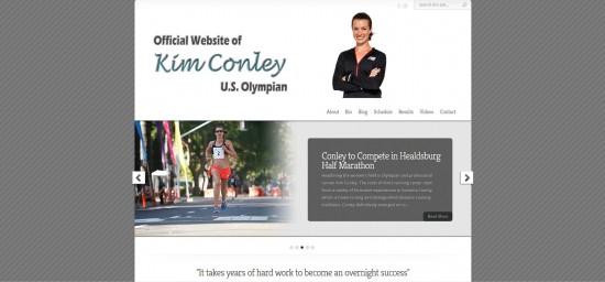 Web Design Website Site Graphic Design Olympian Kim Conley Olympics Athlete Runner Run