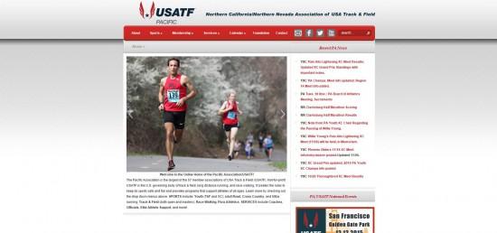 Web Design Website Site Graphic Design USATF PAUSATF United States America Pacific Association