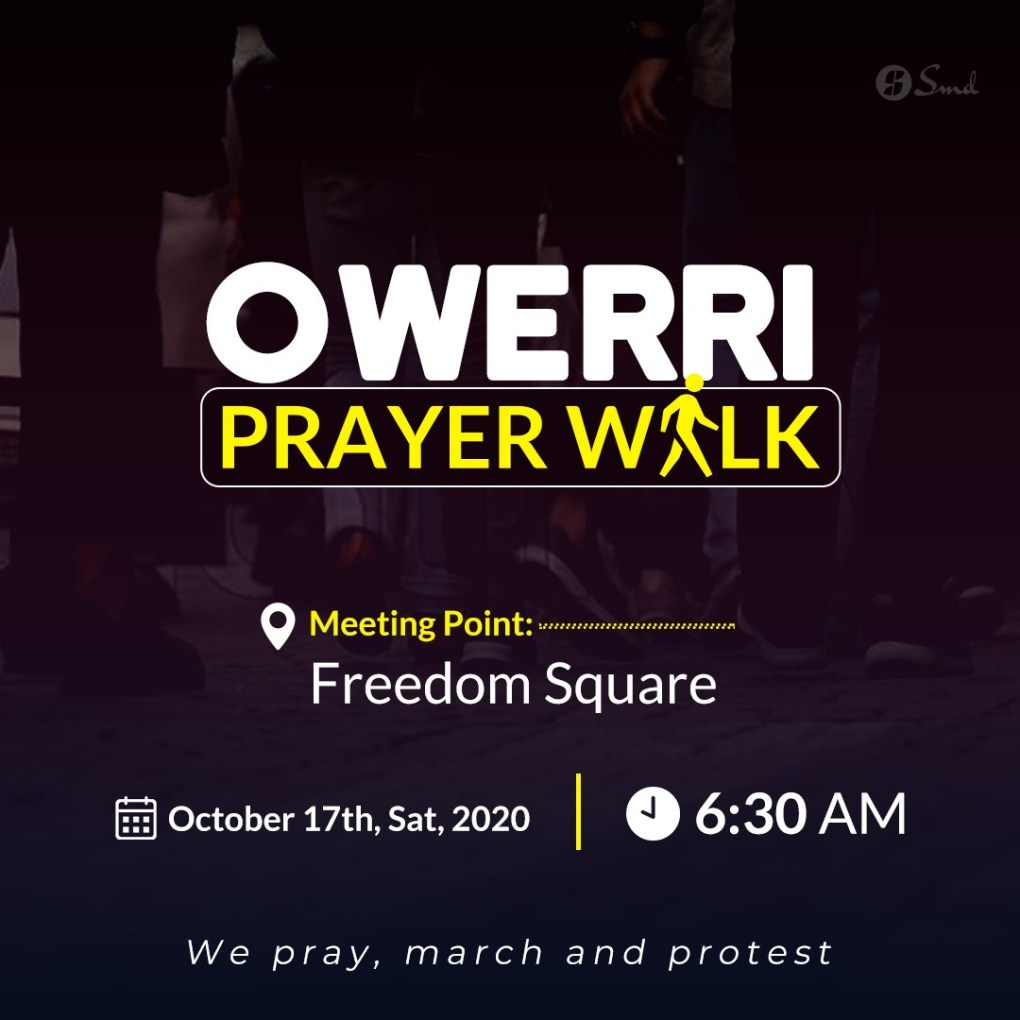 Owerri Prayer Walk Flyer