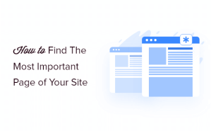 find the most important page of your site