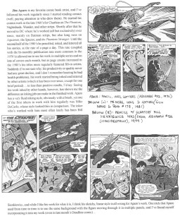 "I ran this page sharing the influence Jim Aparo had on my art during our ""Influences"" issue in July 2000, and again in Aug. 2005 following his death."