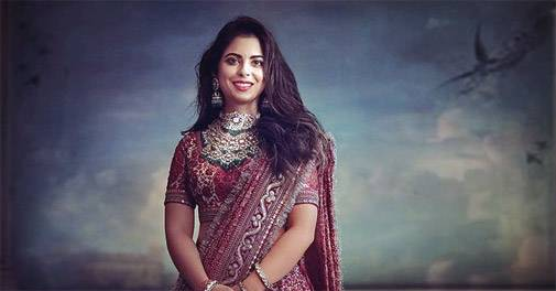 Bride-to-be Isha Ambani looks mesmerising in a custom-made Sabyasachi lehenga ambani 505 112818125703