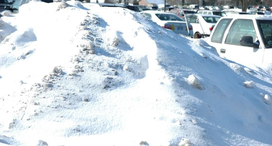 Snowy Weather Creates Dangerous Parking Lots