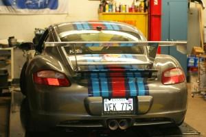 Senior Designs and Builds Rear Spoiler for Racing Porsche