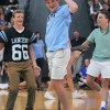 """Senior Connor Swanson smiles at  his friends while dancing in the """"Random Dancing"""" competition. Photo by Callie McPhail"""