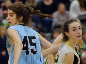 Freshman Sarah Bingham evades a South player after calling for the ball. Photo by Ally Griffith