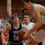 Senior Ben Dollar guards the opponent. Photo by Reilly Moreland