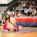 Senior Aakriti Chaturvedi dances in part of the Bollywood dance club performance. Photo by Annakate Dilks