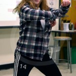 Junior Lucia Barraza performs a dance performance to a K-pop song. Photo by Trevor Paulus