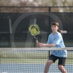 Freshman Andrew Carr prepares to hit the ball. Photo by Reilly Moreland