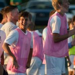 Senior Daniel Adel looks ecstatic after the first goal of the season scored by junior Drew Parisi. Photo by Phoebe Hendon