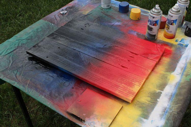 Сушим краску
