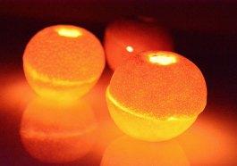 Свечи из мандаринов