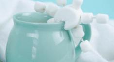Снежинка из маршмеллоу