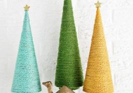Веревочные елки