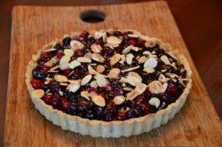 Amaretto Saskatoon Berry Tart
