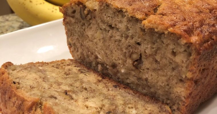 Janices long perfected Banana Bread