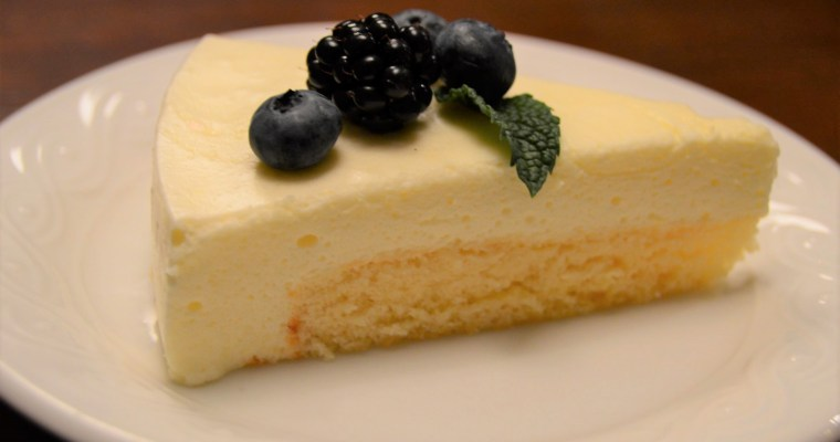 Lemon Mousse Cake Slice