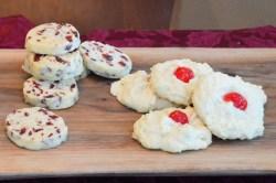 Orange Cranberry Icebox Shortbread Cookies