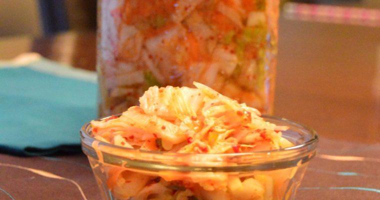 Kimchi (spicy pickled Korean vegetables)