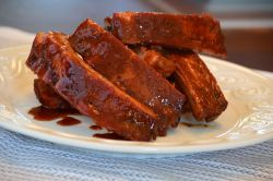 Pile of BBQ Baby Back Ribs