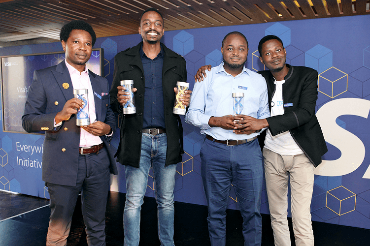 Visa Everywhere Initiative Winners L-R: Zowasel for brief 3, Mookh for brief 2, and CredPal for brief 1.