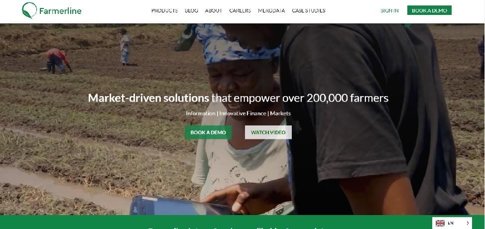 Farmerline website screenshot - Smepeaks