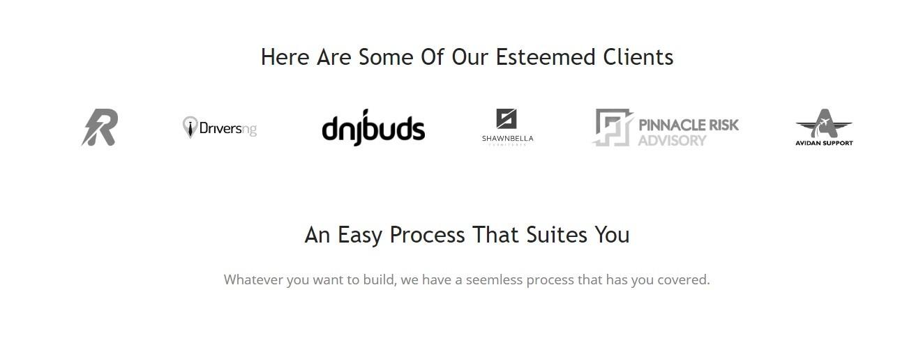 Sprinble Clients website - Screenshot