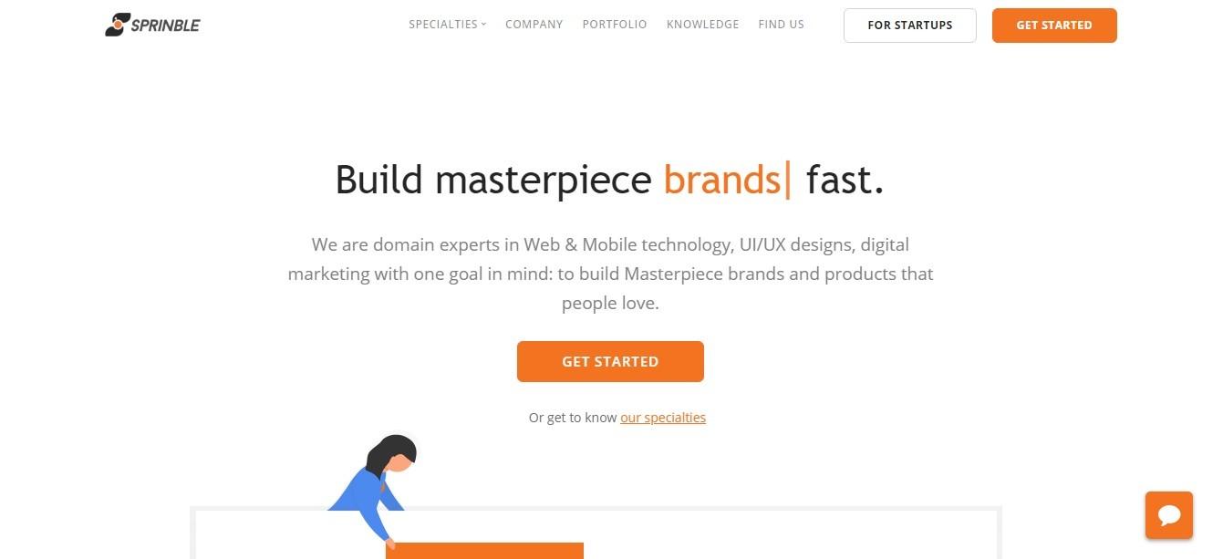 Sprinble - website screenshot - Smepeaks