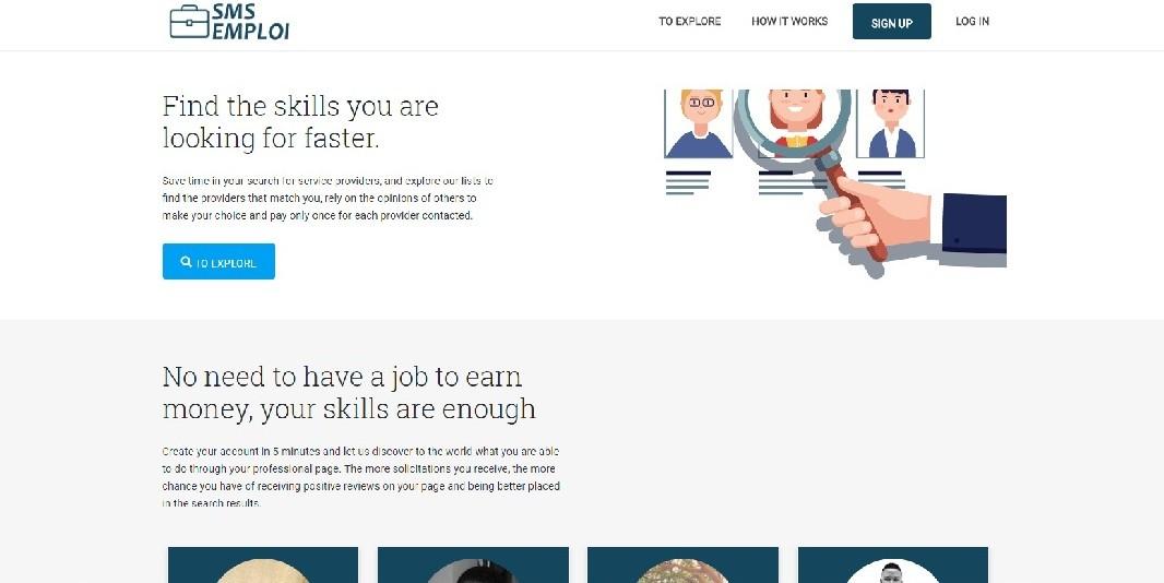 Emploi website screenshot - Smepeaks