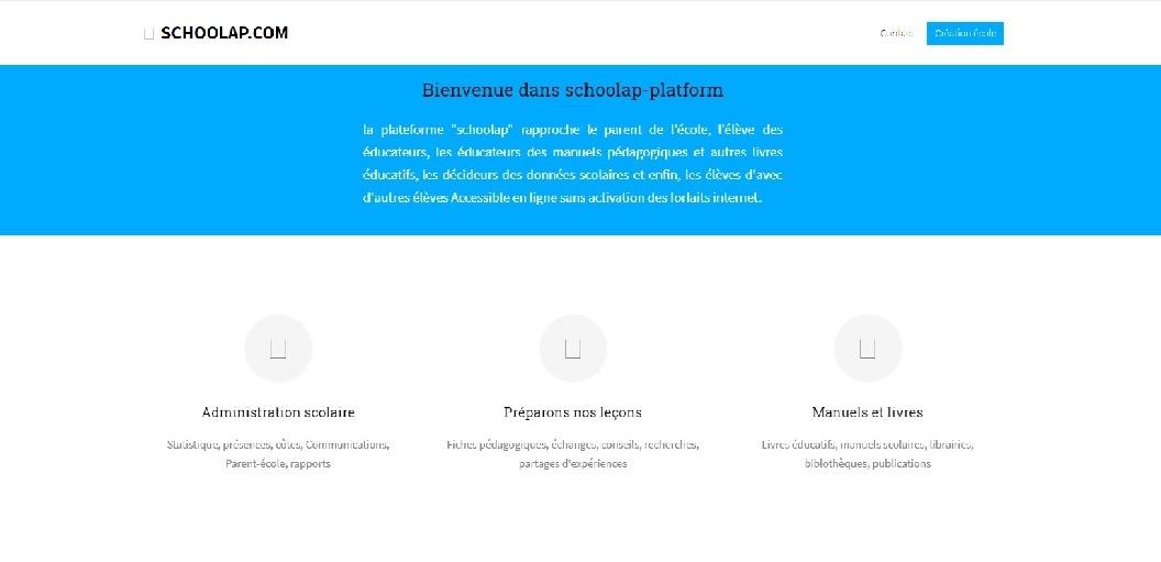Schoolap website screenshot - Smepeaks