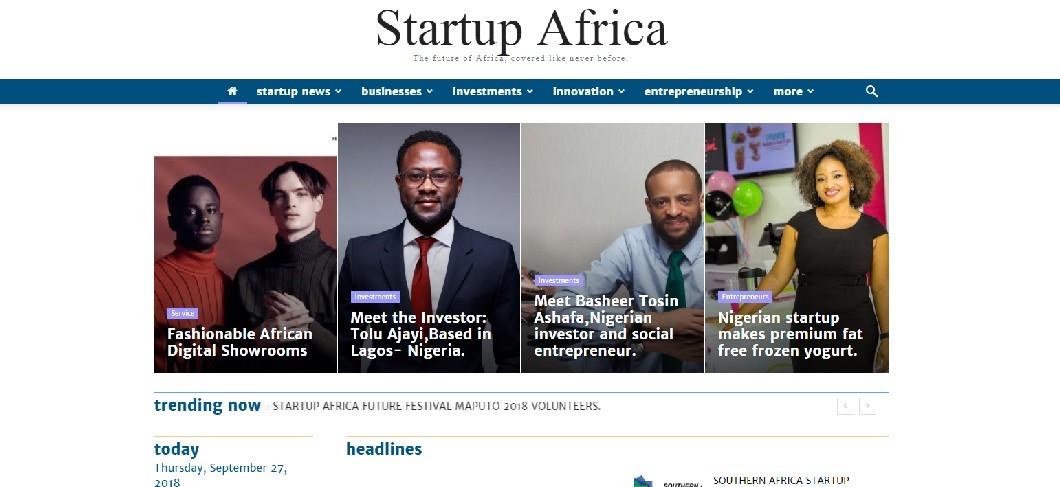 Startup Africa website screenshot - Seedstars Maputo