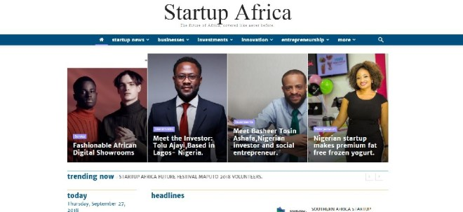 Startup Africa website screenshot - Seedstars Maputo