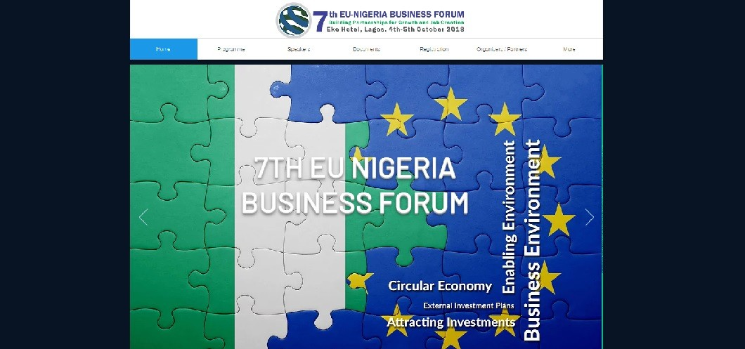 EU website screenshot - EU-Nigeria Business