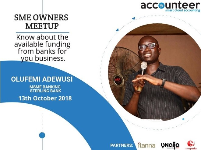 Olufemi Adewusi - Accounteer SME Meetup Facilitator, Smepeaks.com