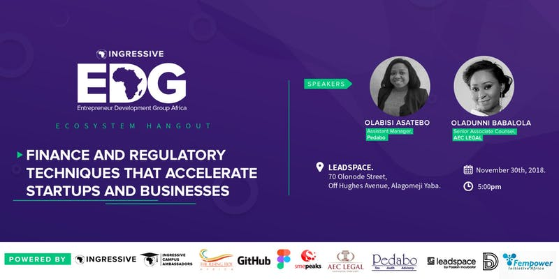 Register Yet? Learn Corporate Business Structure, Equity Funding, More at Ingressive Ecosystem Hangout, November Edition