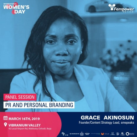 Grace Akinosun, Founder, smepeaks - One of Fempower IWD Event Speakers