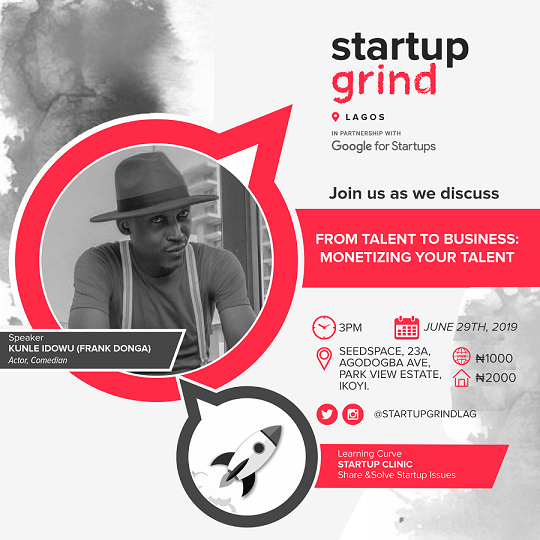 Startup Grind Lagos to host Frank Donga in June, 2019