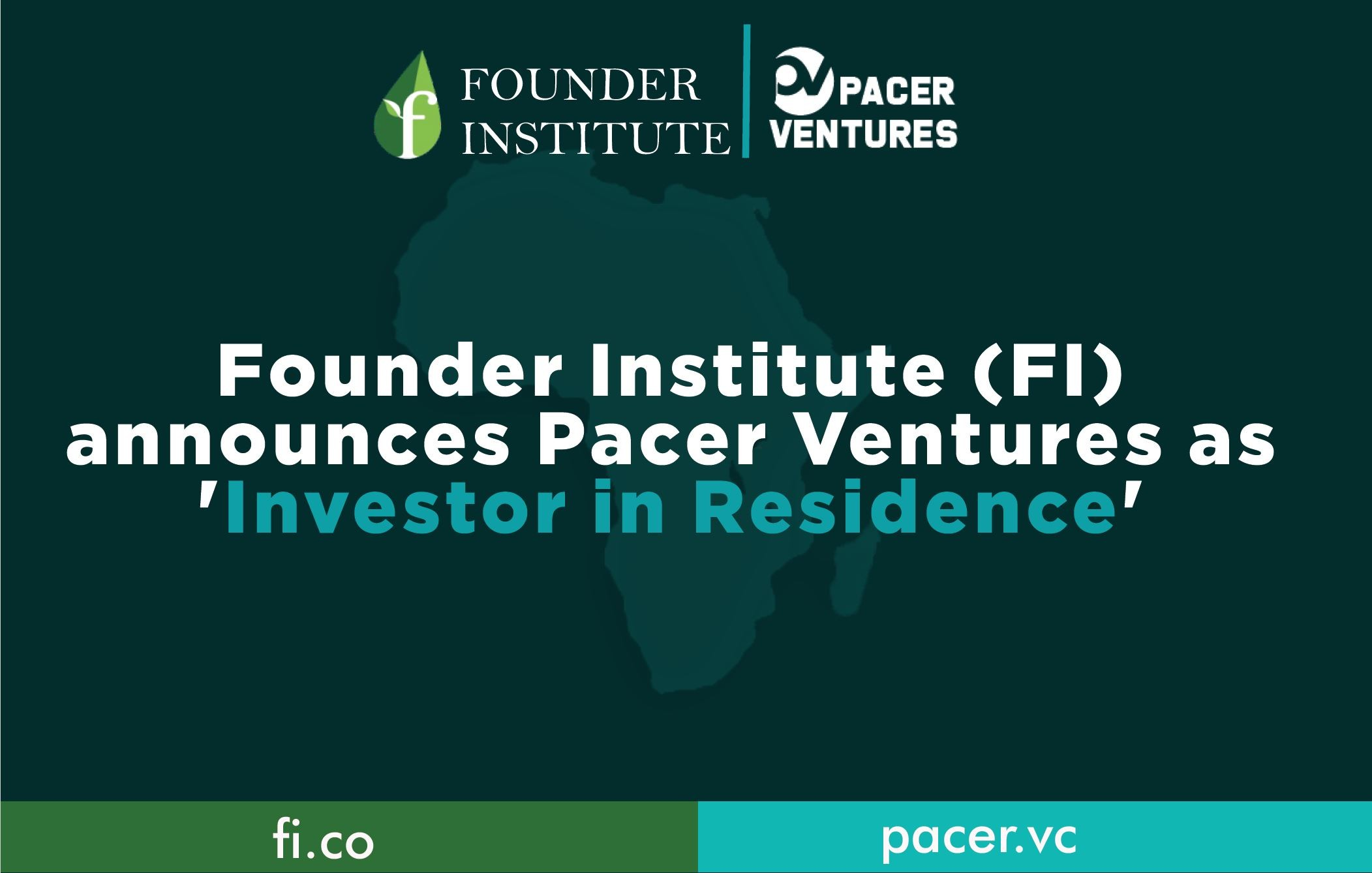 Flier of Pacer Ventures becomes FI Investor-In-Residence