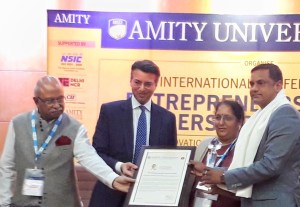 "Satyam Sikarwar of SAP Infra Technologies Receives ""Entrepreneurial Excellence Award – ICT Sector"" by Amity University"
