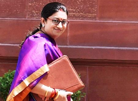 Smiriti Irani to Represent India in the World Cotton Day Event of UNFAO at WTO