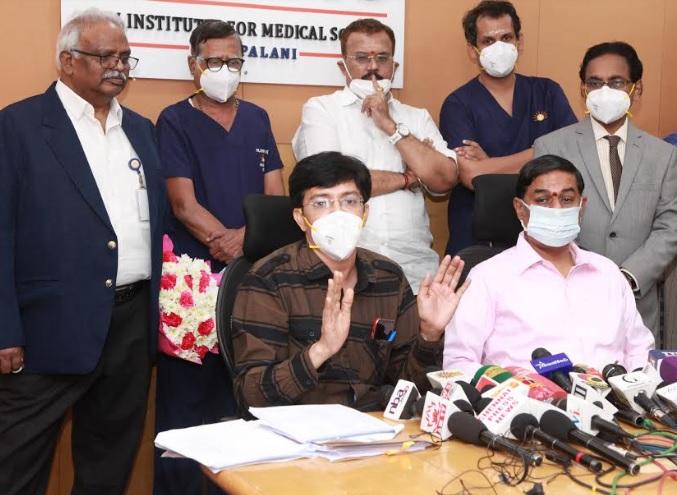 Dr. J. Radhakrishnan, Principal Secretary of Tamil Nadu's Health Dept Inaugurated Covishield Vaccination Drive at SIMS Hospital