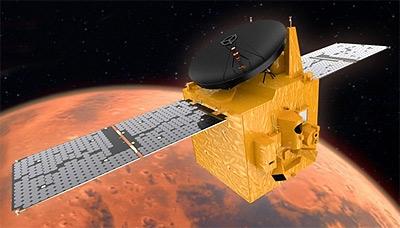 Arabian Spacecraft Amal on Historic Voyage to Mars