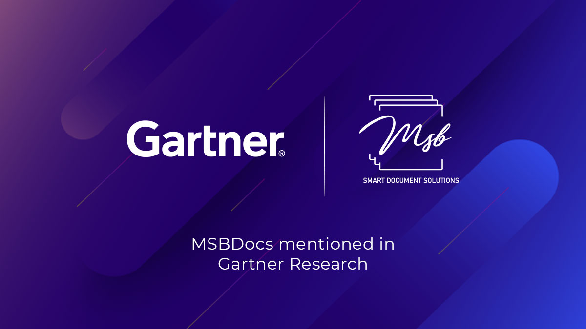 MSB Docs Named & Recognized in the Market Guide for Electronic Signature