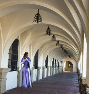 Flute Player in the Cloisters