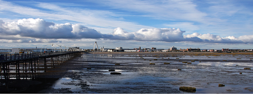 Low tide at Southport pier