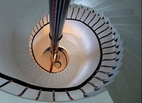 Staircase in the lighthouse